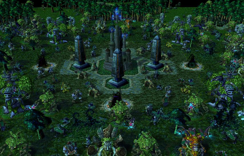 Карта все расы warcraft 3.