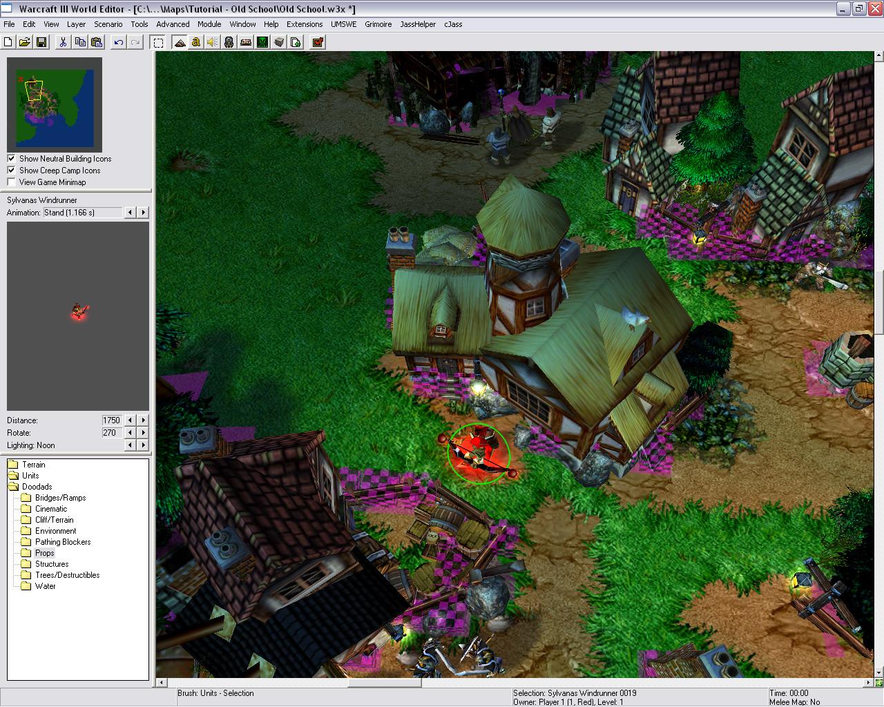 H готовую карту с персонажами для редактор warcraft 3